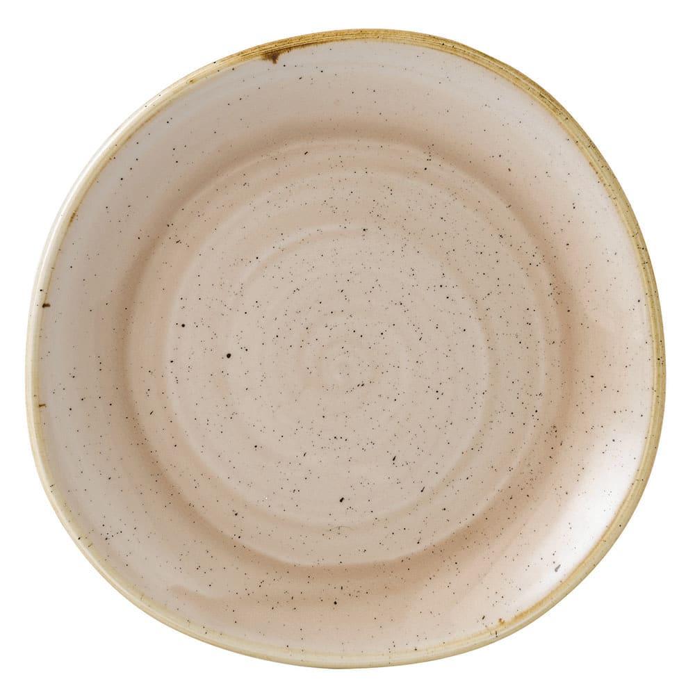 "Churchill SNMSOG81 8.25"" Round Stonecast Plate - Ceramic, Nutmeg Cream"