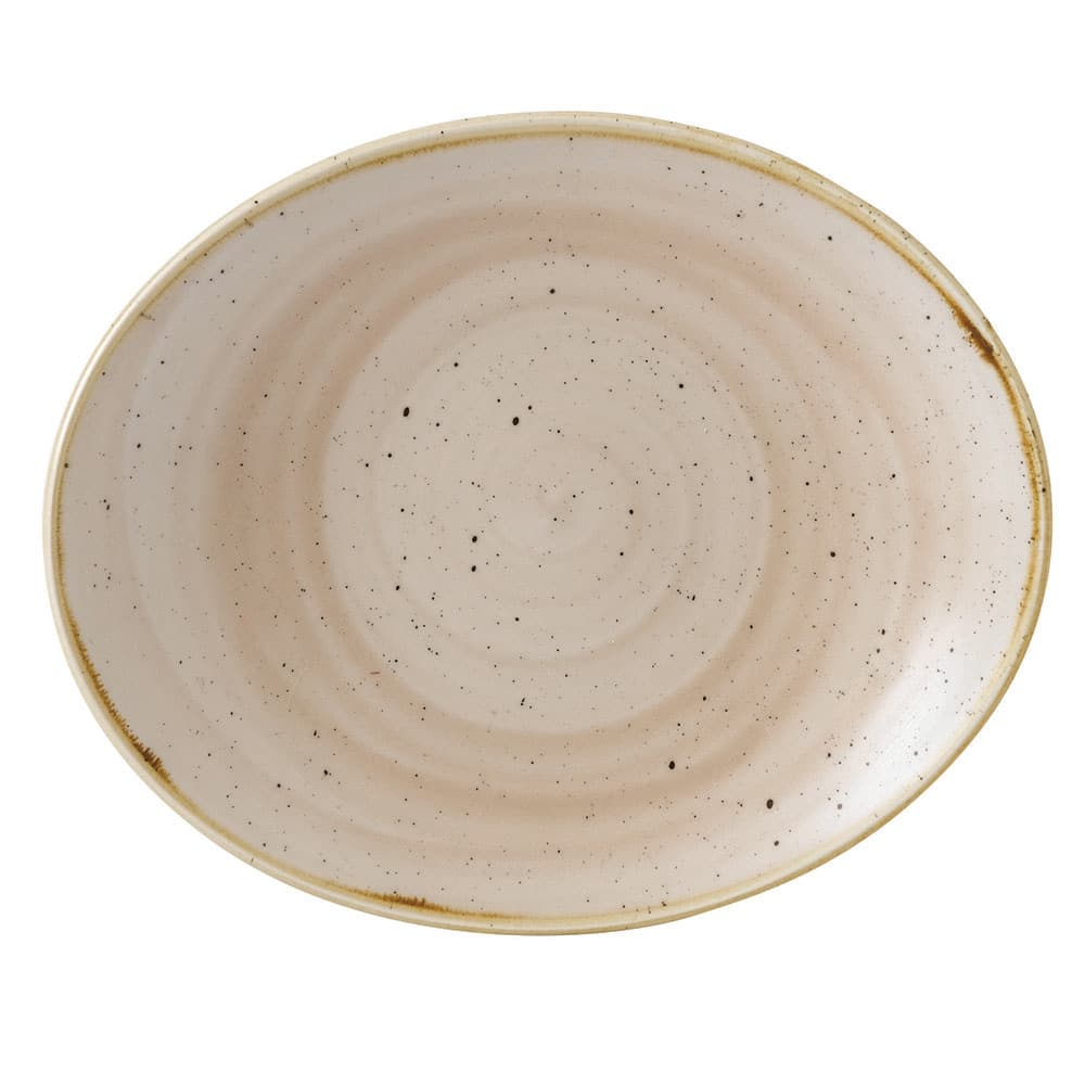 "Churchill SNMSOP71 7.75"" Oval Stonecast Plate - Ceramic, Nutmeg Cream"