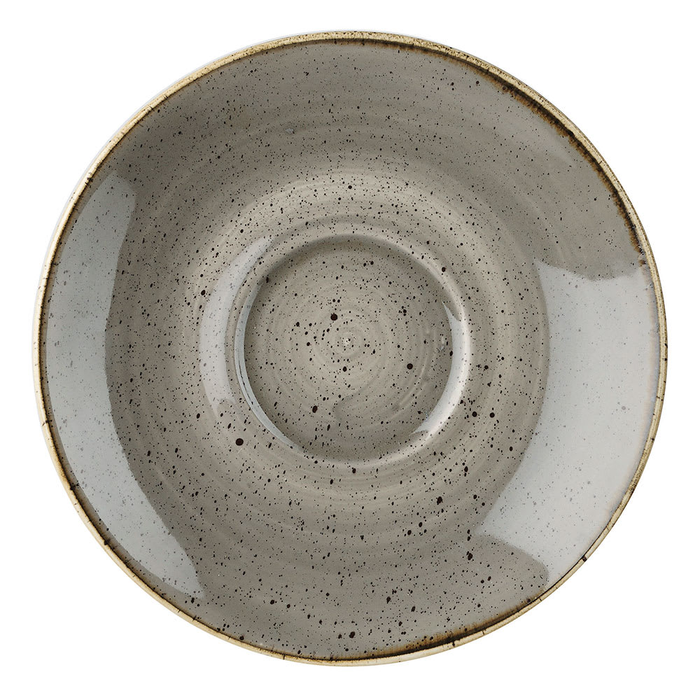 "Churchill SPGSCSS1 6.25"" Stonecast Saucer - Ceramic, Peppercorn Gray"