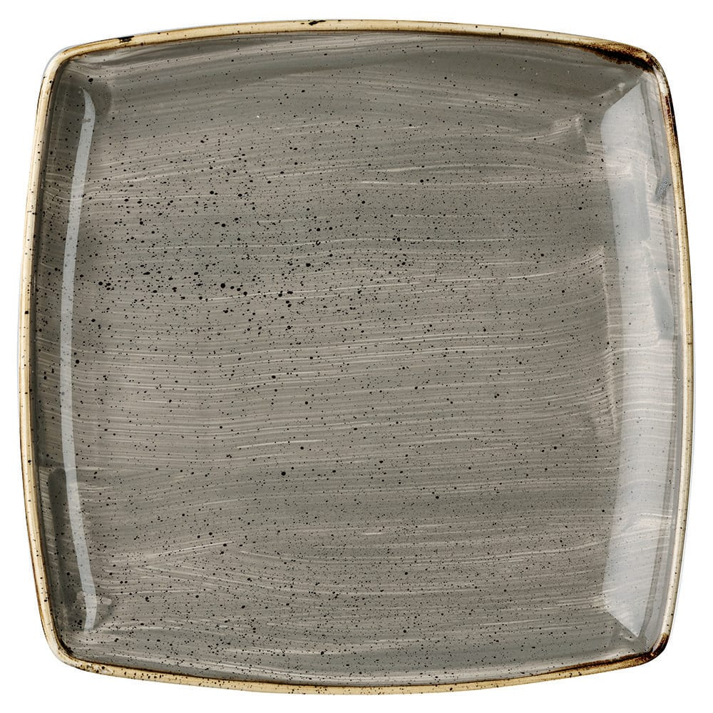 "Churchill SPGSDS101 10.5"" Square Stonecast Plate - Ceramic, Peppercorn Gray"