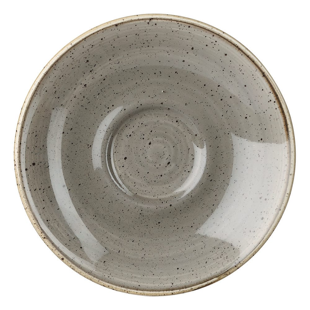"Churchill SPGSESS1 4.5"" Stonecast Saucer - Ceramic, Peppercorn Gray"