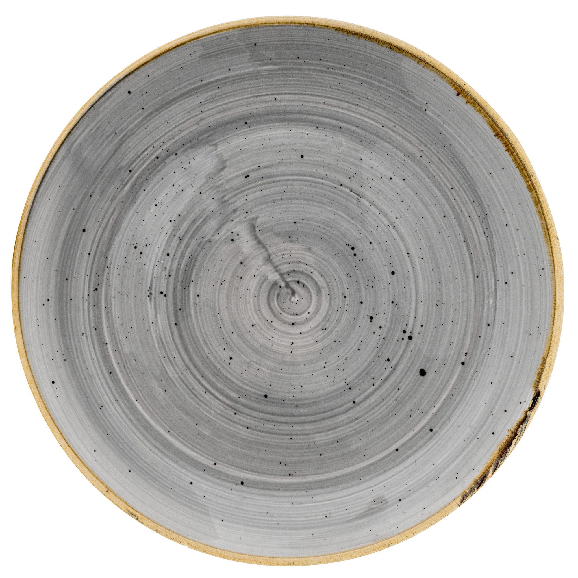 "Churchill SPGSEV101 10.25"" Round Stonecast Plate - Ceramic, Peppercorn Gray"