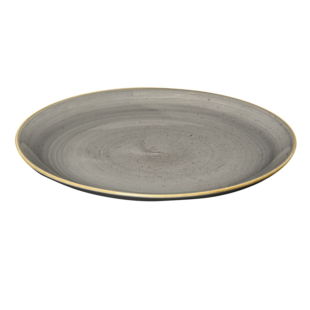 "Churchill SPGSEV111 11.25"" Round Stonecast Plate - Ceramic, Peppercorn Gray"