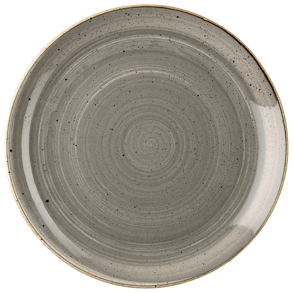 "Churchill SPGSEV121 12.75"" Round Stonecast Plate - Ceramic, Peppercorn Gray"