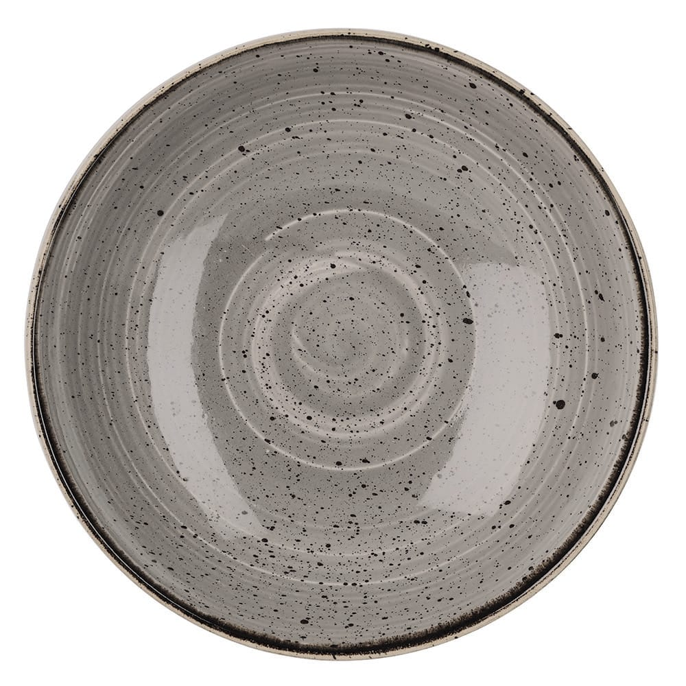Churchill SPGSEVB71 15 oz Stonecast Bowl - Ceramic, Peppercorn Gray