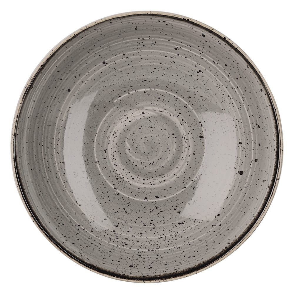 Churchill SPGSEVB91 40-oz Stonecast Bowl - Ceramic, Peppercorn Gray