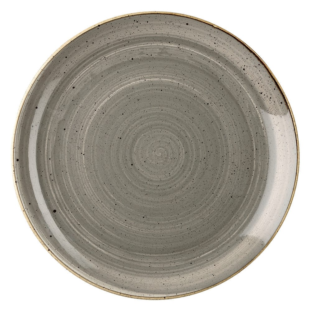 "Churchill SPGSEVP81 8.67"" Round Stonecast Plate - Ceramic, Peppercorn Gray"