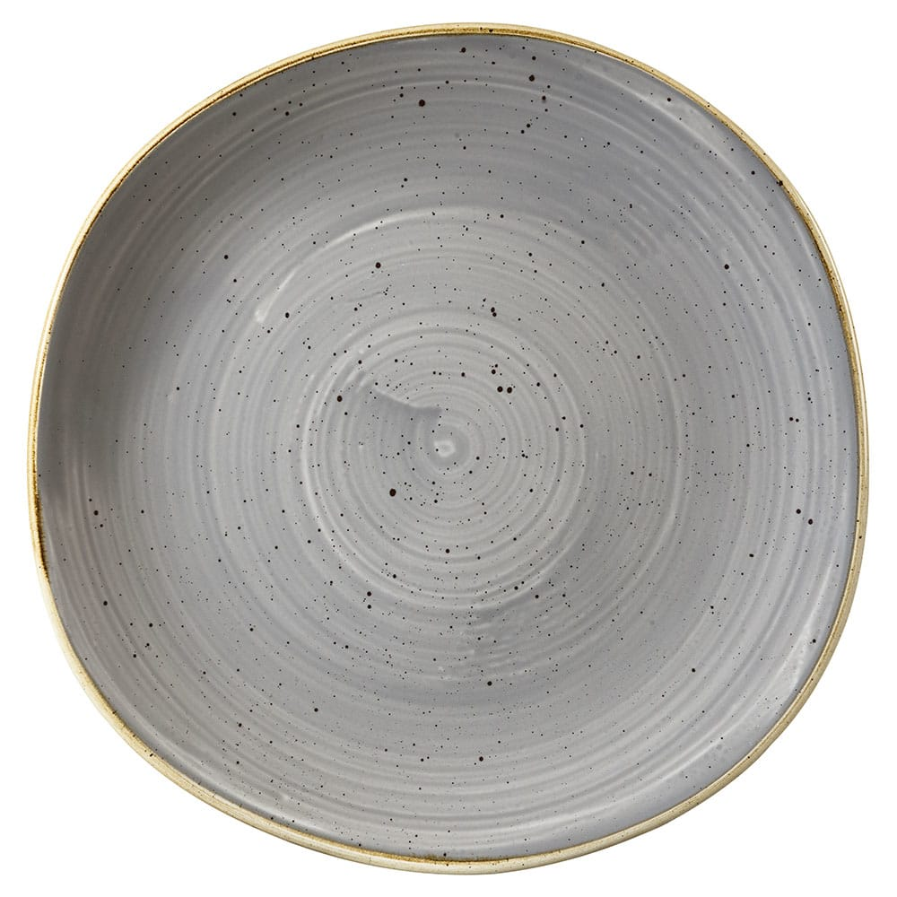 "Churchill SPGSOG101 10.38"" Round Stonecast Plate - Ceramic, Peppercorn Gray"