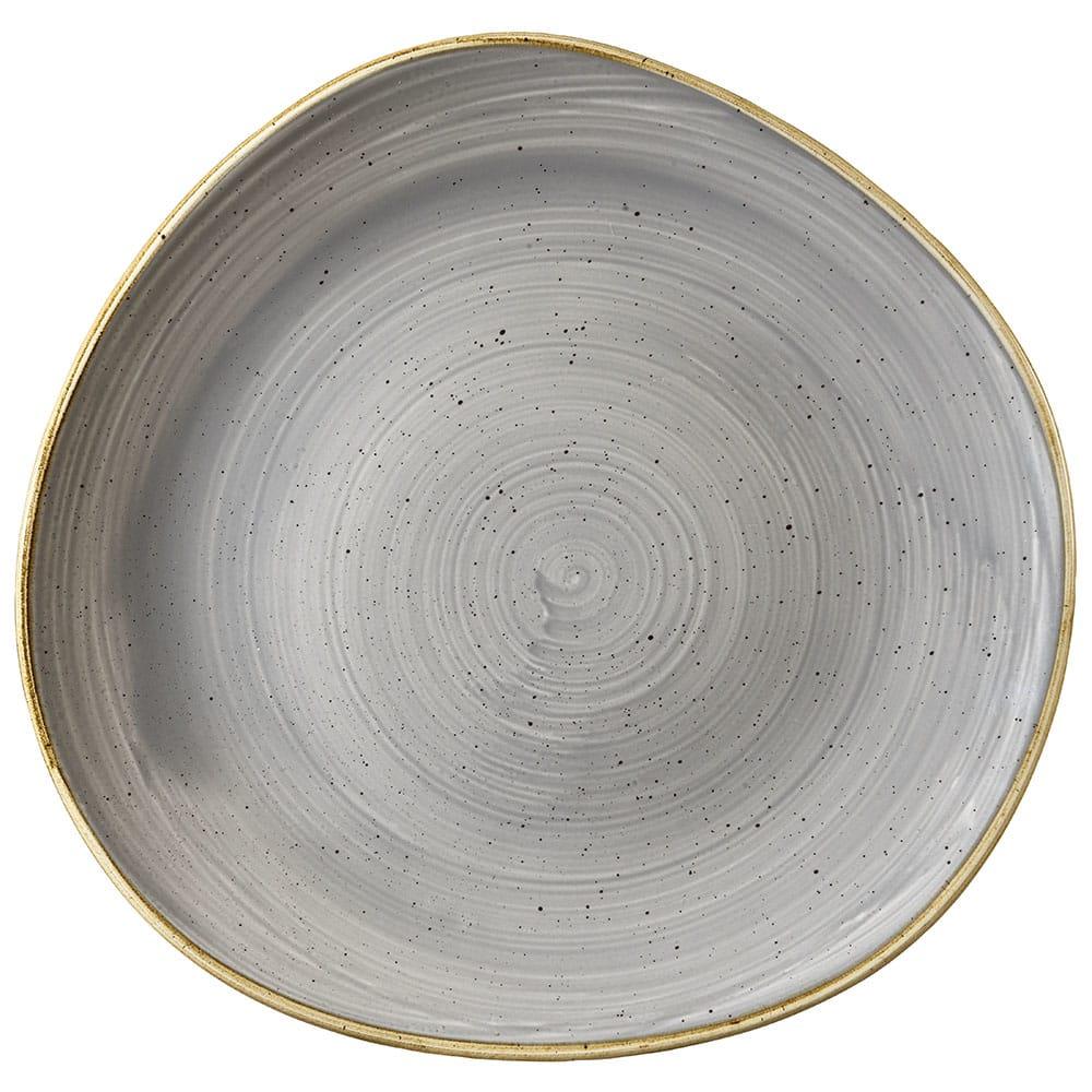 "Churchill SPGSOG111 11.25"" Round Stonecast Plate - Ceramic, Peppercorn Gray"