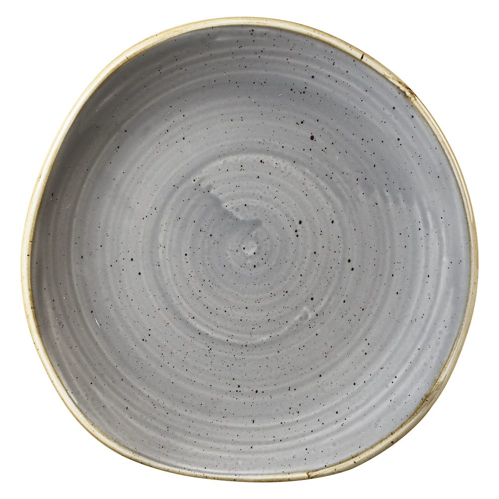 "Churchill SPGSOG71 7.25"" Round Stonecast Plate - Ceramic, Peppercorn Gray"