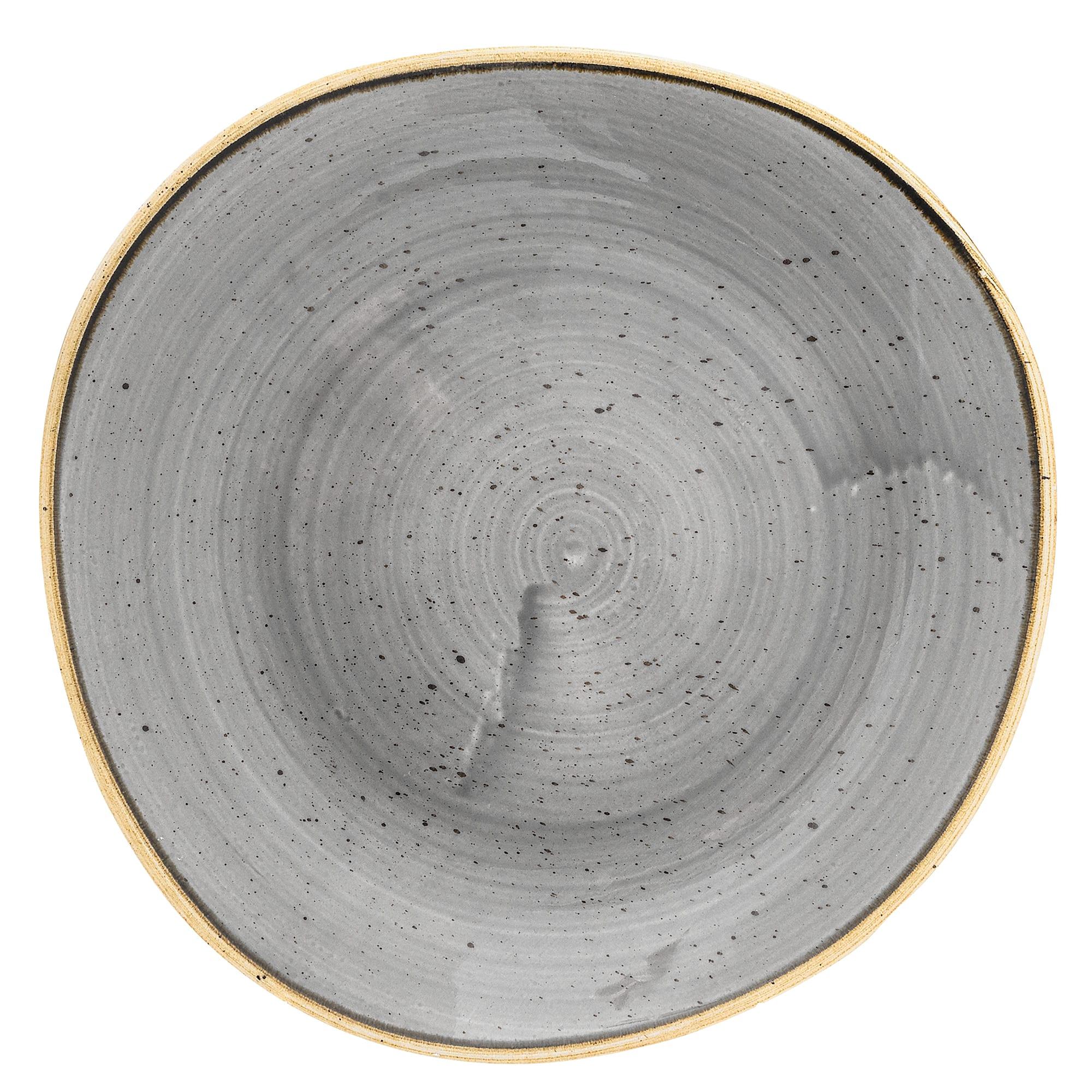 "Churchill SPGSOG81 8.25"" Round Stonecast Plate - Ceramic, Peppercorn Gray"