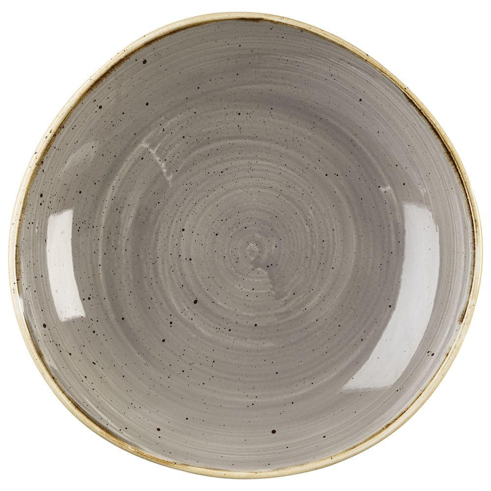 Churchill SPGSOGB11 38-oz Stonecast Bowl - Ceramic, Peppercorn Gray