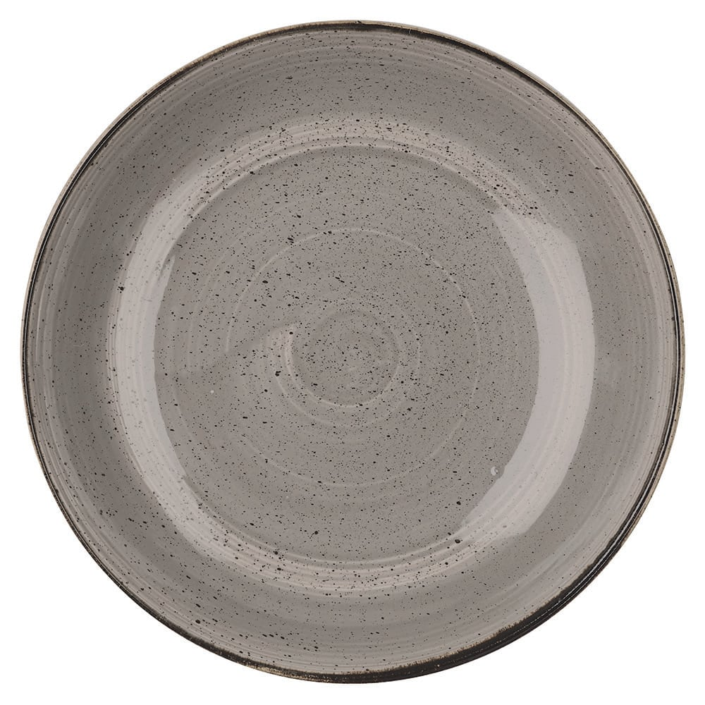 Churchill SPGSPLC21 84.5-oz Stonecast Bowl - Ceramic, Peppercorn Gray