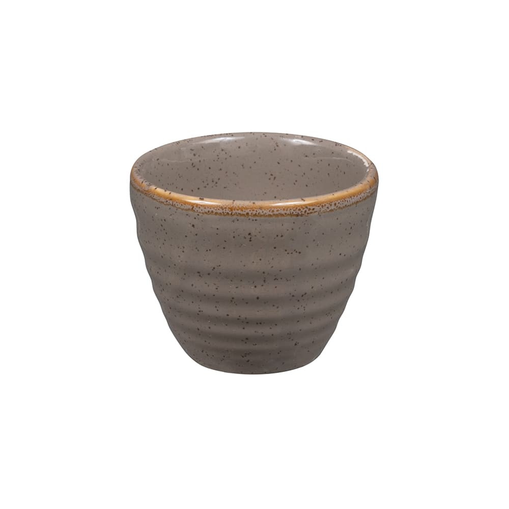 Churchill SPGSRPD21 2 oz Stonecast Ripple Dipper Pot - Ceramic, Peppercorn Gray