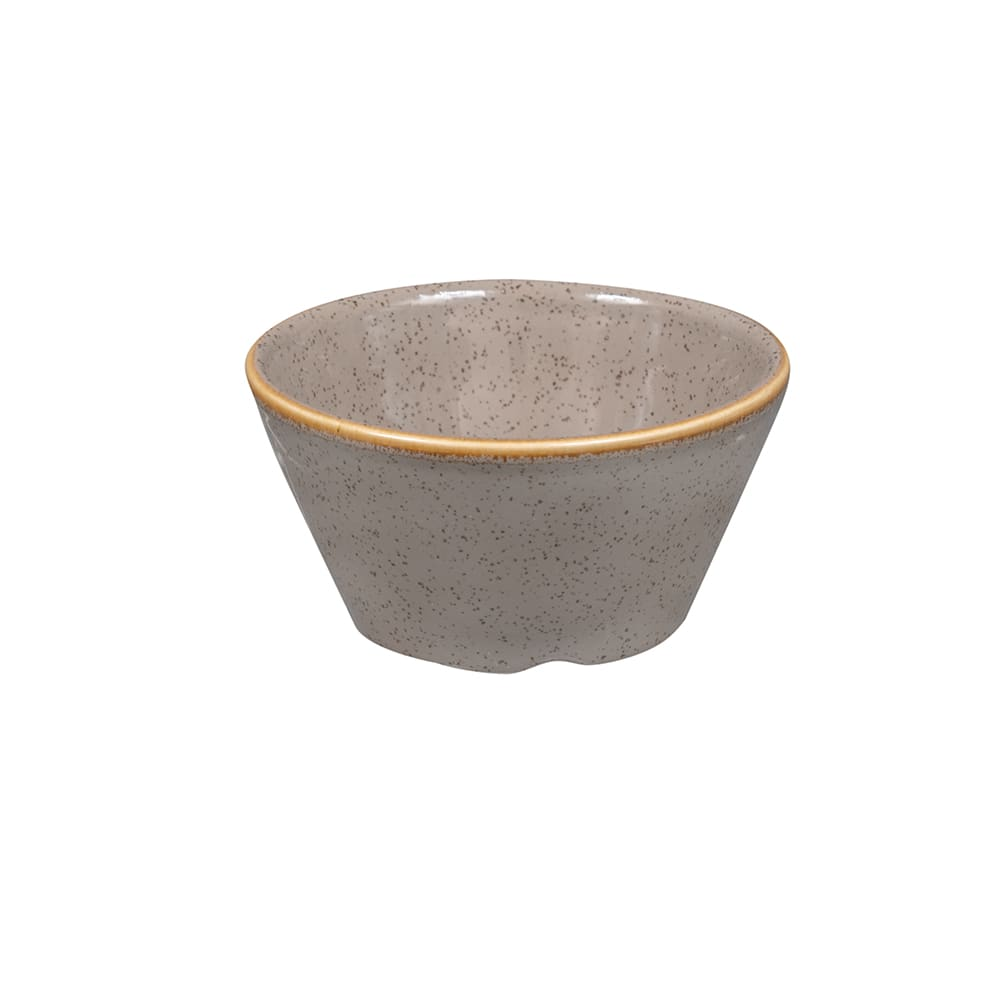 Churchill SPGSSD31 3 oz Stonecast Sauce Dish - Ceramic, Peppercorn Gray