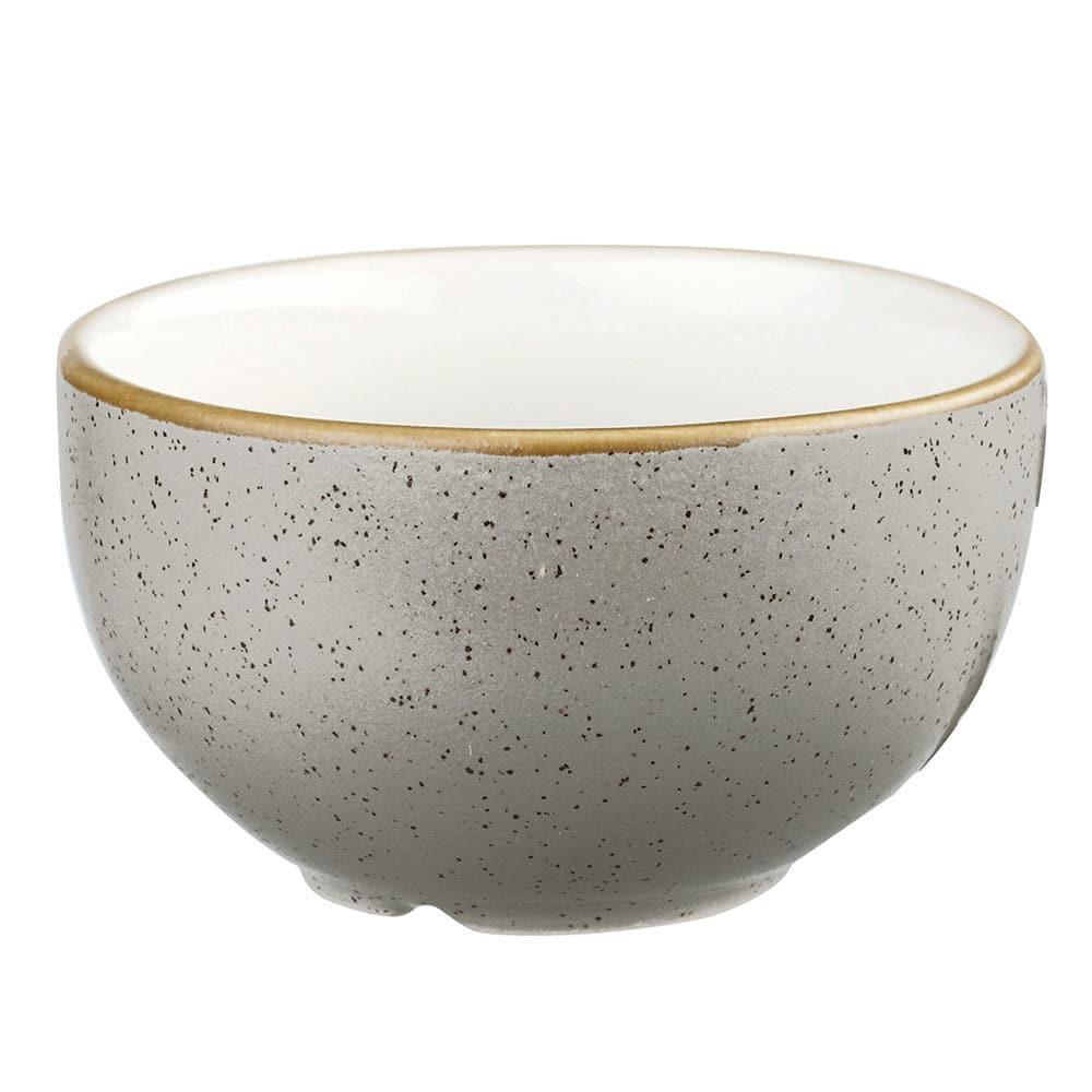 Churchill SPGSSSGR1 8-oz Stonecast Sugar Bowl - Ceramic, Peppercorn Gray