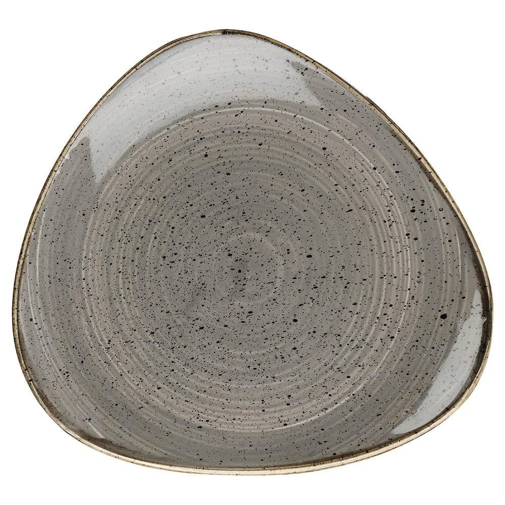 "Churchill SPGSTR101 10.5"" Triangular Stonecast Plate - Ceramic, Peppercorn Gray"