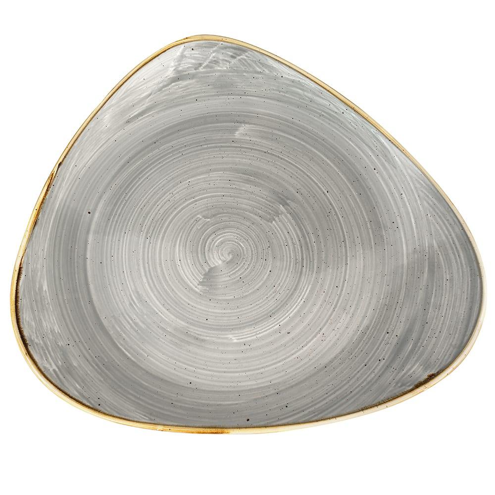"Churchill SPGSTR121 12.25"" Triangular Stonecast Plate - Ceramic, Peppercorn Gray"