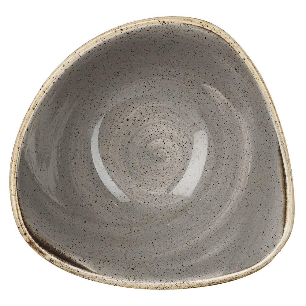 Churchill SPGSTRB61 9 oz Triangular Stonecast Bowl - Ceramic, Peppercorn Gray