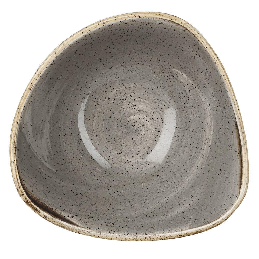 Churchill SPGSTRB71 13-oz Triangular Stonecast Bowl - Ceramic, Peppercorn Gray