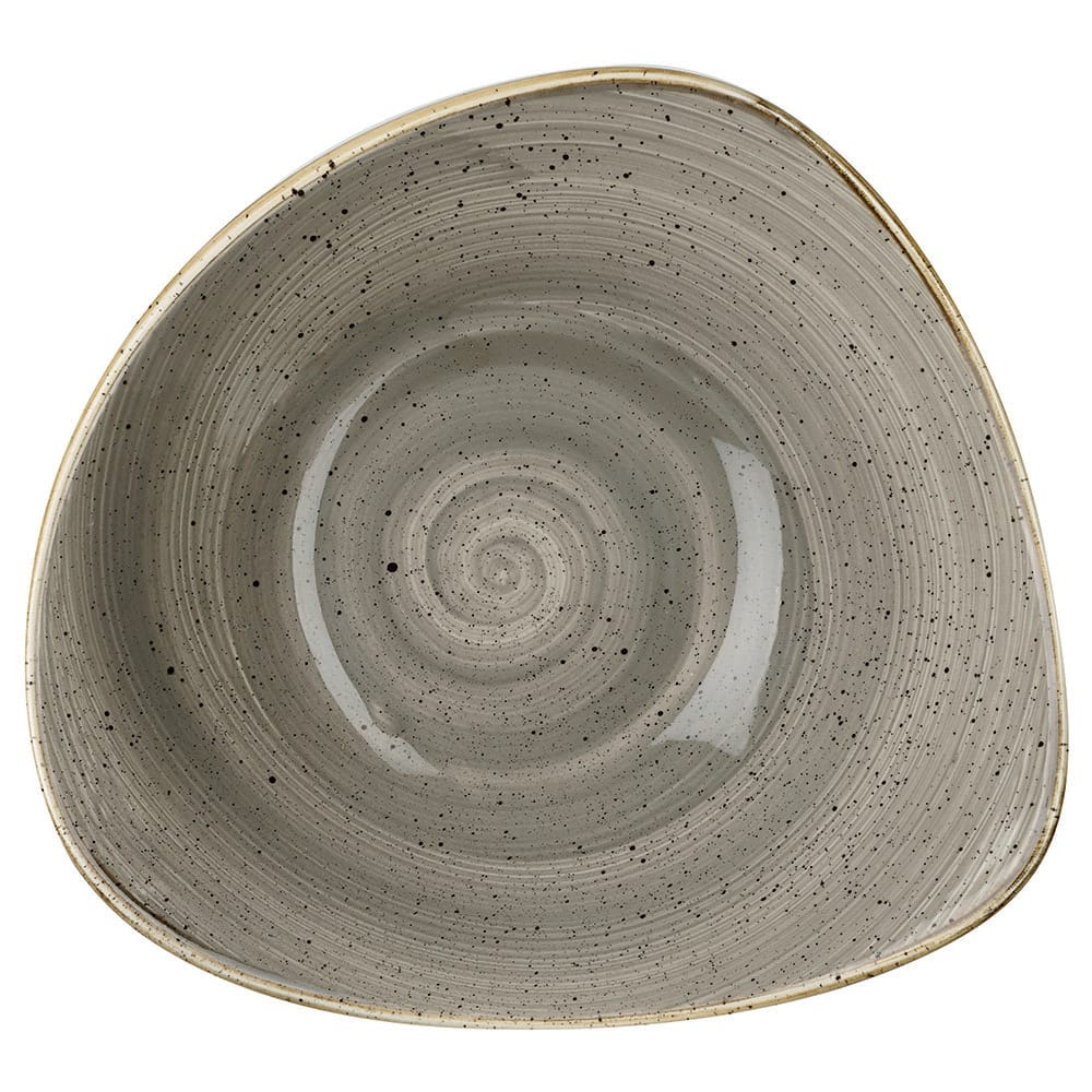 Churchill SPGSTRB91 21-oz Triangular Stonecast Bowl - Ceramic, Peppercorn Gray