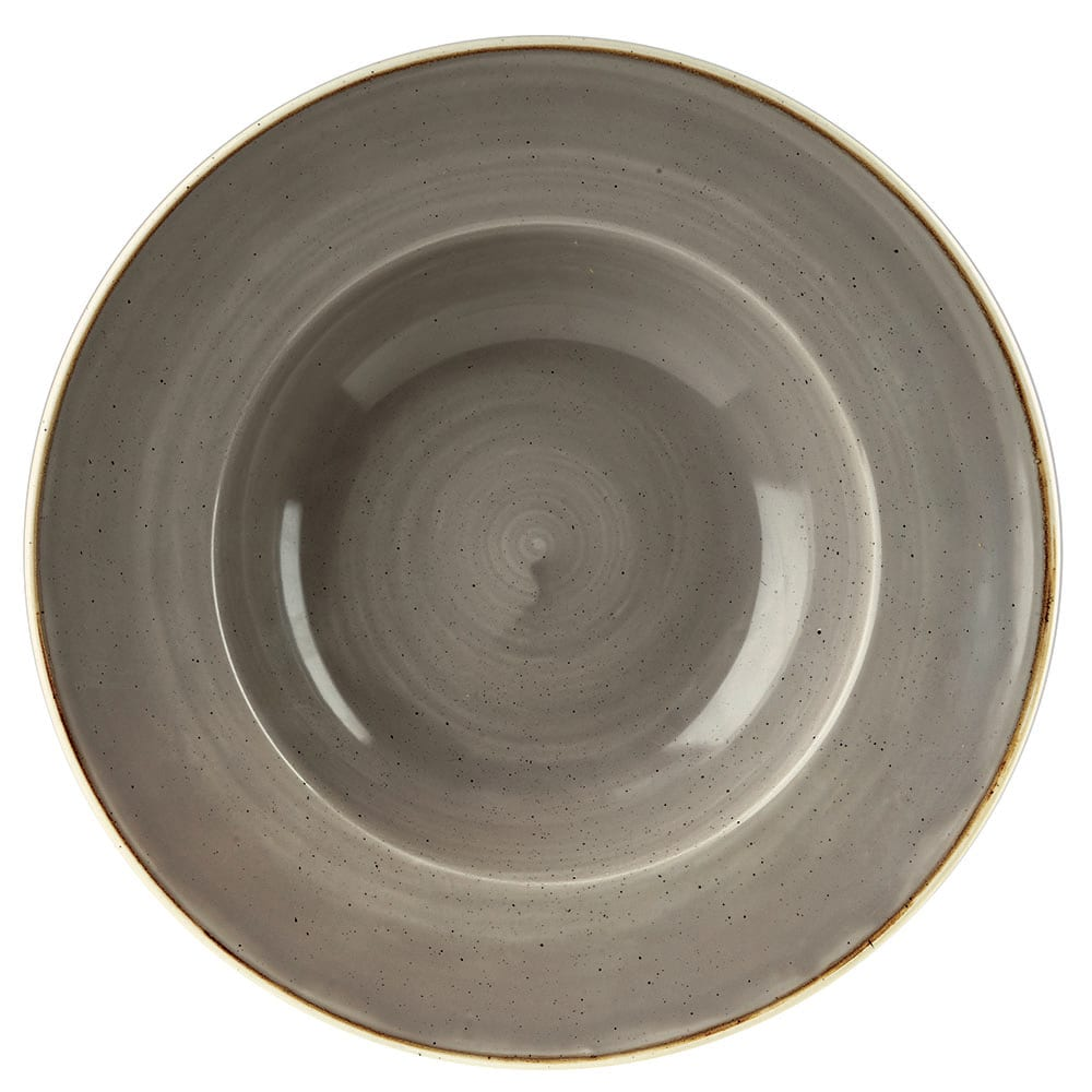 Churchill SPGSVWBL1 16.5 oz Stonecast Bowl - Ceramic, Peppercorn Gray