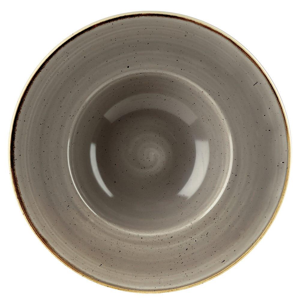 Churchill SPGSVWBM1 10 oz Stonecast Bowl - Ceramic, Peppercorn Gray