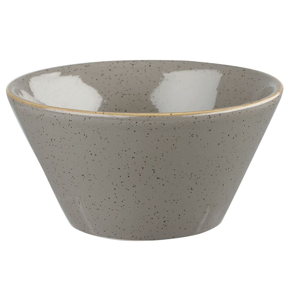 Churchill SPGSZE121 12 oz Stonecast Zest Bowl - Ceramic, Peppercorn Gray