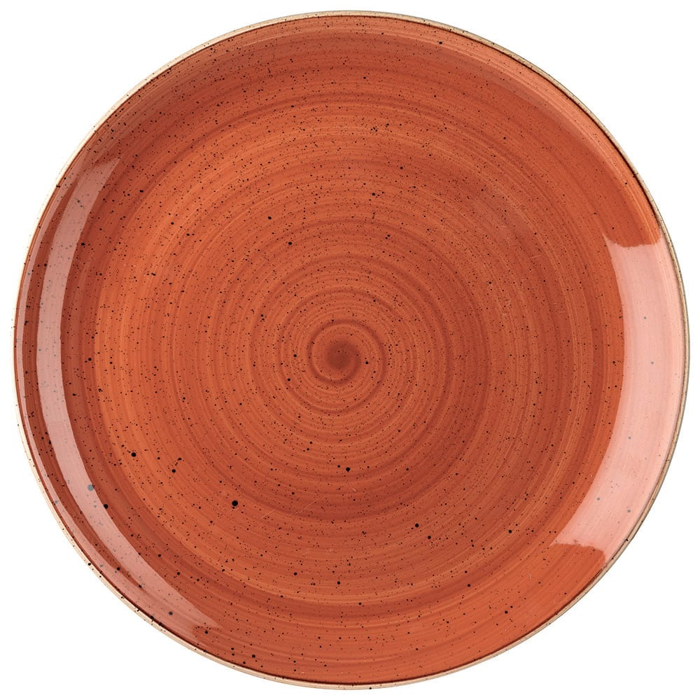 "Churchill SSOSEV111 11.25"" Round Stonecast Plate - Ceramic, Spiced Orange"