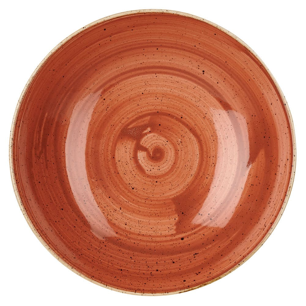 Churchill SSOSEVB71 15 oz Stonecast Bowl - Ceramic, Spiced Orange