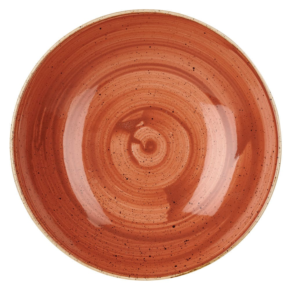 Churchill SSOSEVB91 40 oz Stonecast Bowl - Ceramic, Spiced Orange