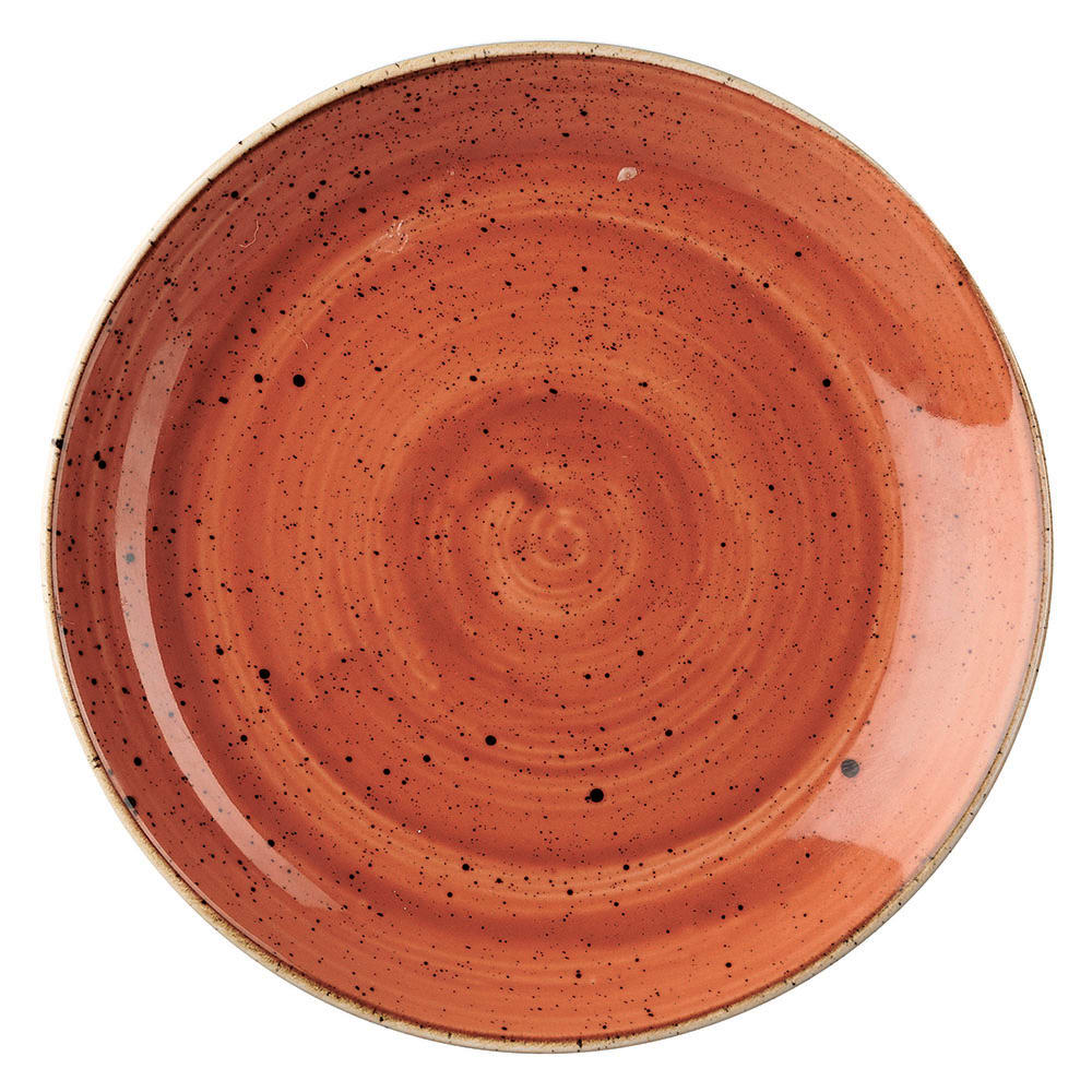 "Churchill SSOSEVP81 8.67"" Round Stonecast Plate - Ceramic, Spiced Orange"