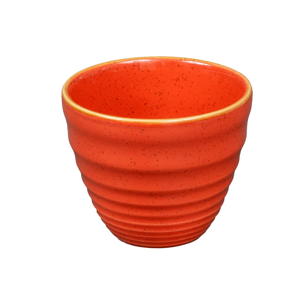 Churchill SSOSRPCM1 10-oz Stonecast Ripple Chip Mug - Ceramic, Spiced Orange