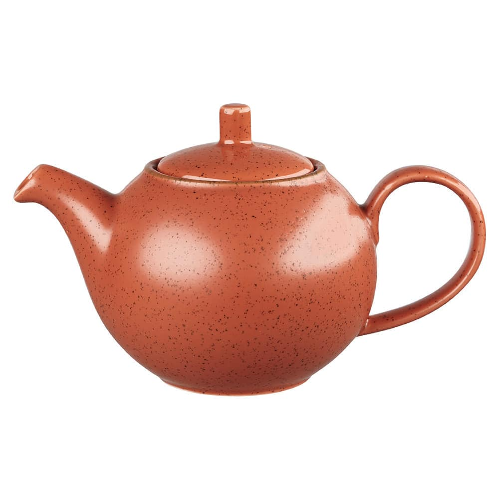 Churchill SSOSSB151 15-oz Stonecast Teapot - Ceramic, Spiced Orange