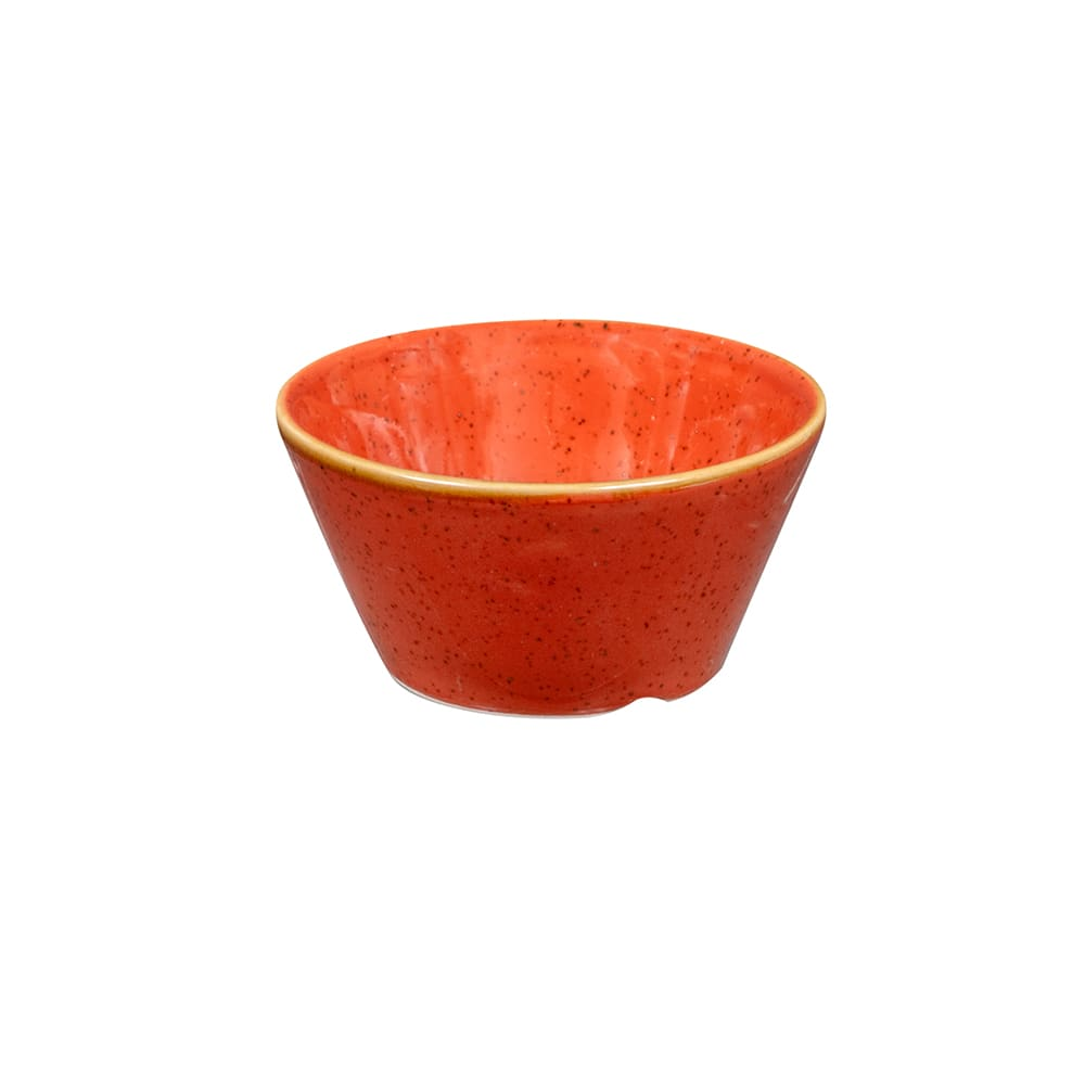 Churchill SSOSSD31 3-oz Stonecast Sauce Dish - Ceramic, Spiced Orange
