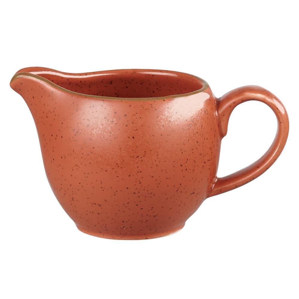 Churchill SSOSSJ41 4-oz Stonecast Creamer - Ceramic, Spiced Orange