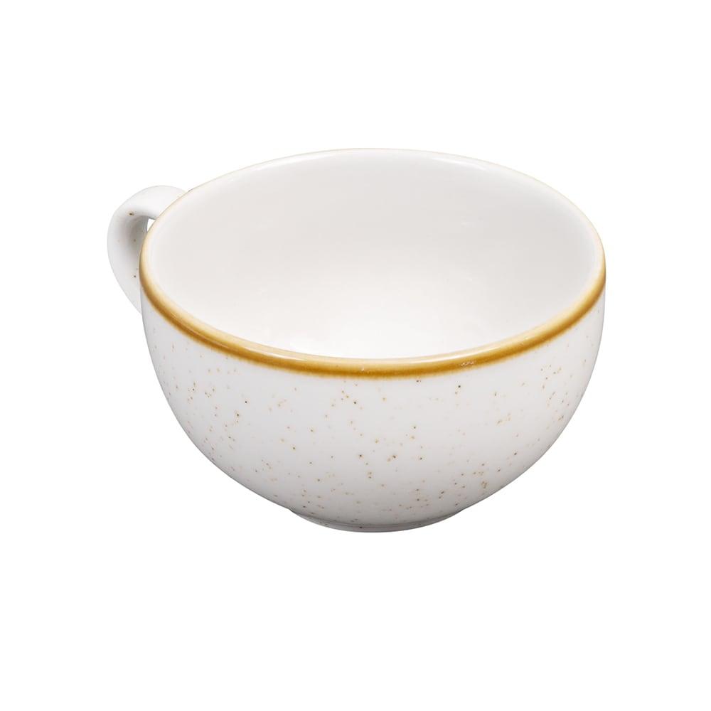 Churchill SWHSCB201 8-oz Stonecast Cappuccino Cup - Ceramic, Barley White
