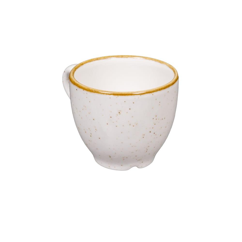 Churchill SWHSCEB91 3.5 oz Stonecast Espresso Cup - Ceramic, Barley White