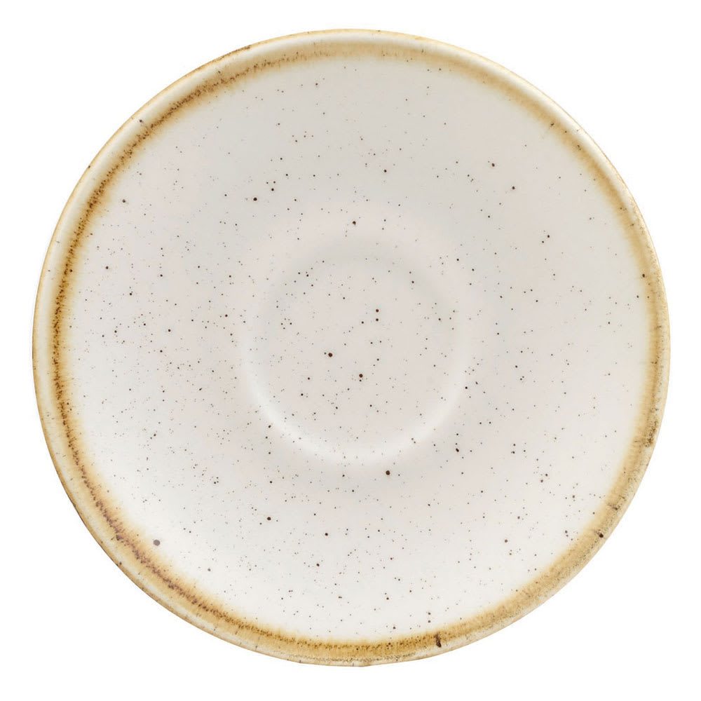 "Churchill SWHSESS1 4.5"" Stonecast Espresso Saucer - Ceramic, Barley White"