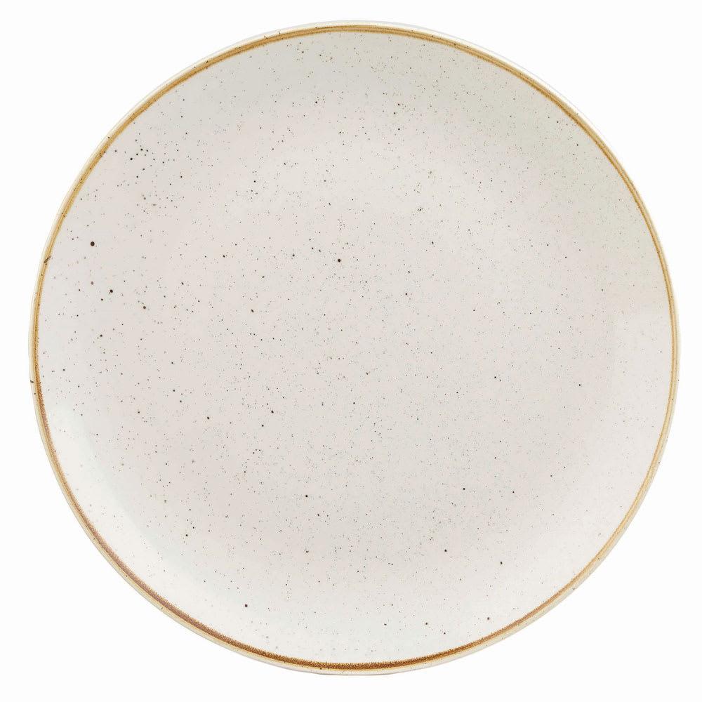 "Churchill SWHSEV121 12.75"" Round Stonecast Plate - Ceramic, Barley White"