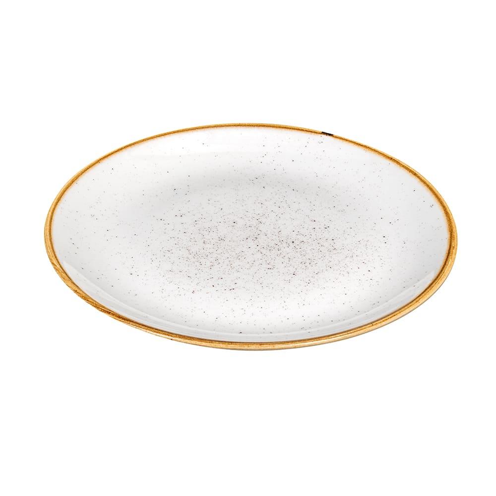 "Churchill SWHSEVP61 6.5"" Round Stonecast Plate - Ceramic, Barley White"