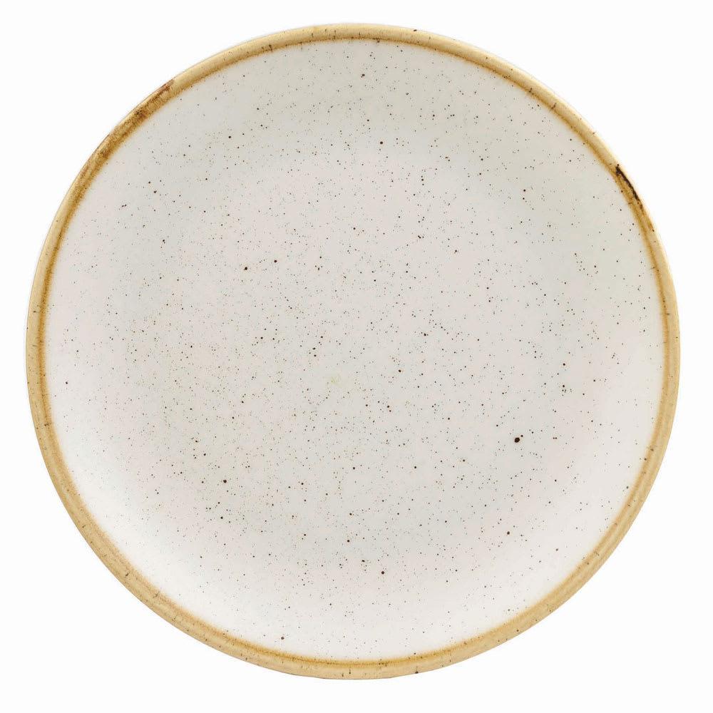 "Churchill SWHSEVP81 8.67"" Round Stonecast Plate - Ceramic, Barley White"
