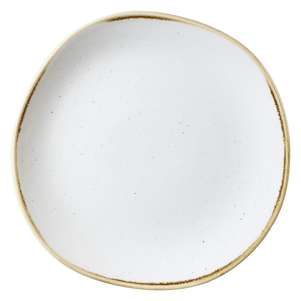 "Churchill SWHSOG101 10.38"" Round Stonecast Plate - Ceramic, Barley White"