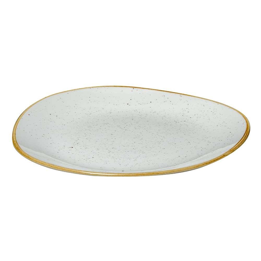 "Churchill SWHSOG111 11.25"" Round Stonecast Plate - Ceramic, Barley White"