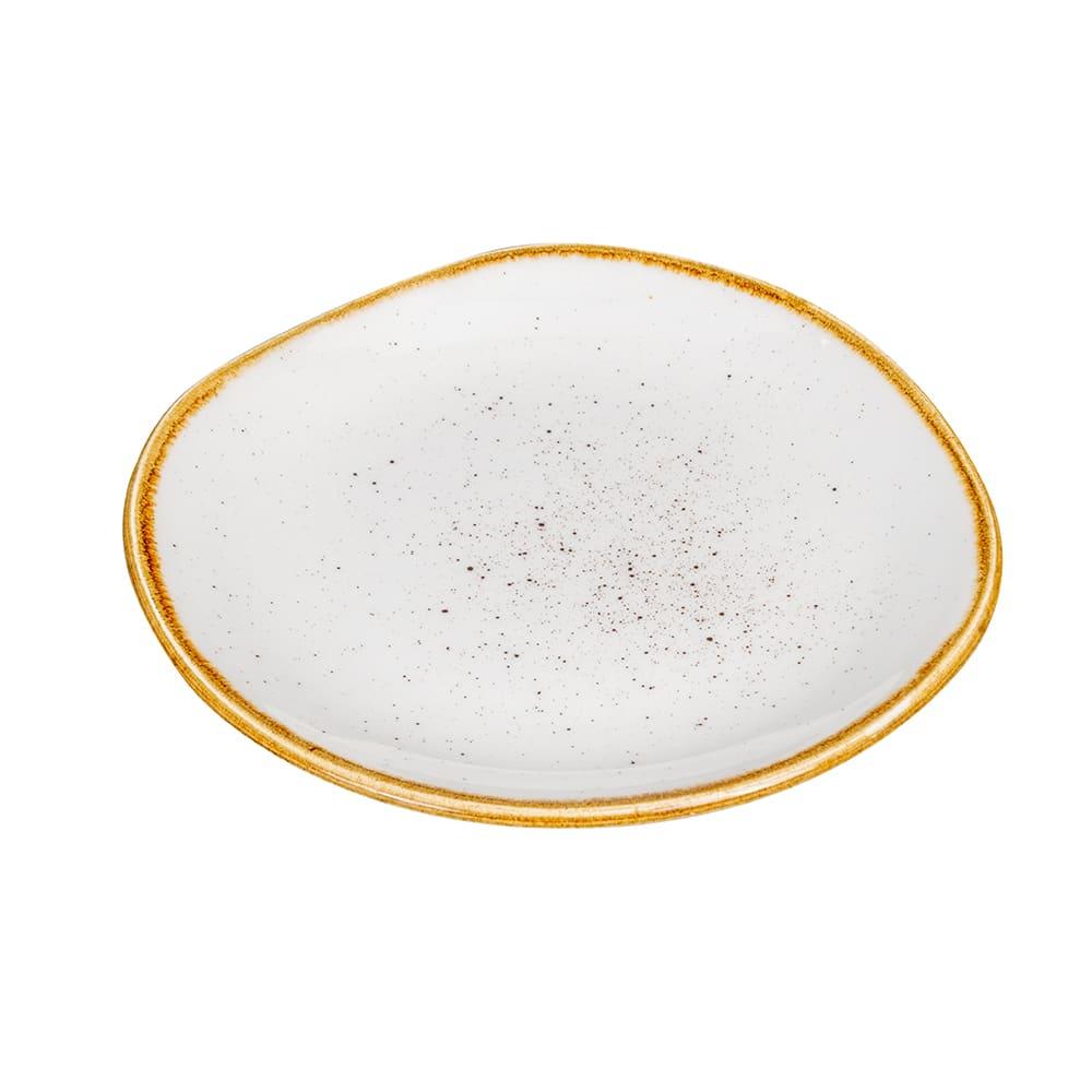 "Churchill SWHSOG71 7.25"" Round Stonecast Plate - Ceramic, Barley White"