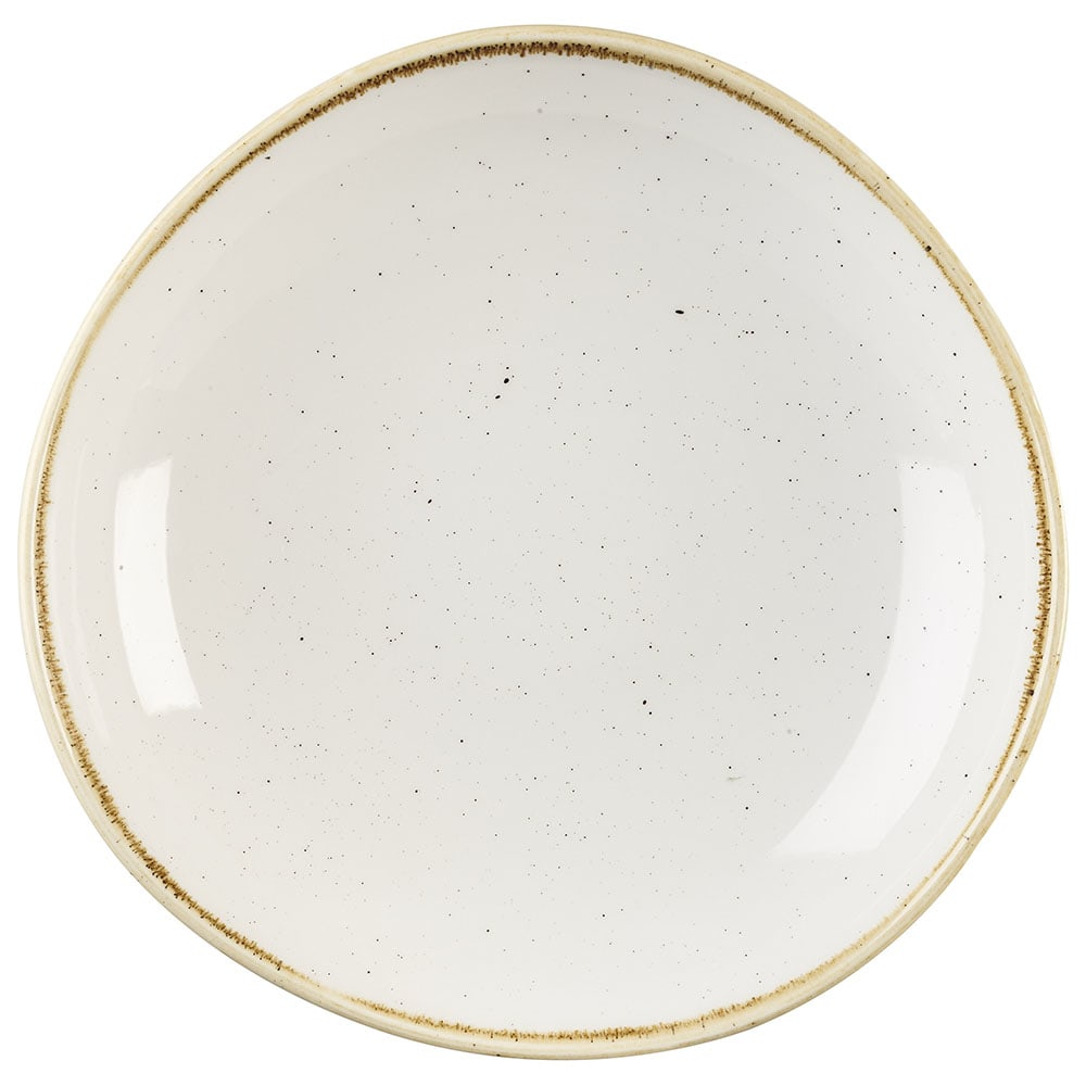 Churchill SWHSOGB11 38-oz Stonecast Bowl - Ceramic, Barley White