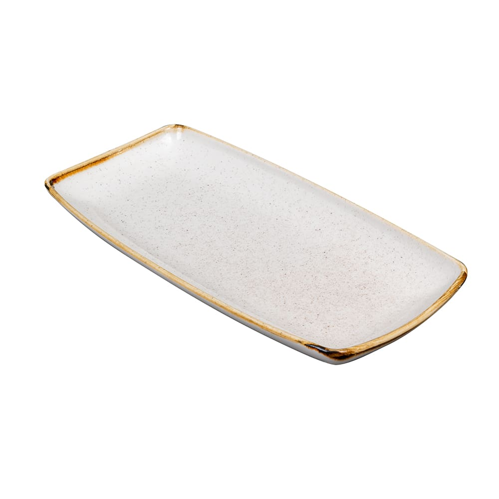 "Churchill SWHSOP111 Rectangular Stonecast Plate - 11.75"" x 6"", Ceramic, Barley White"
