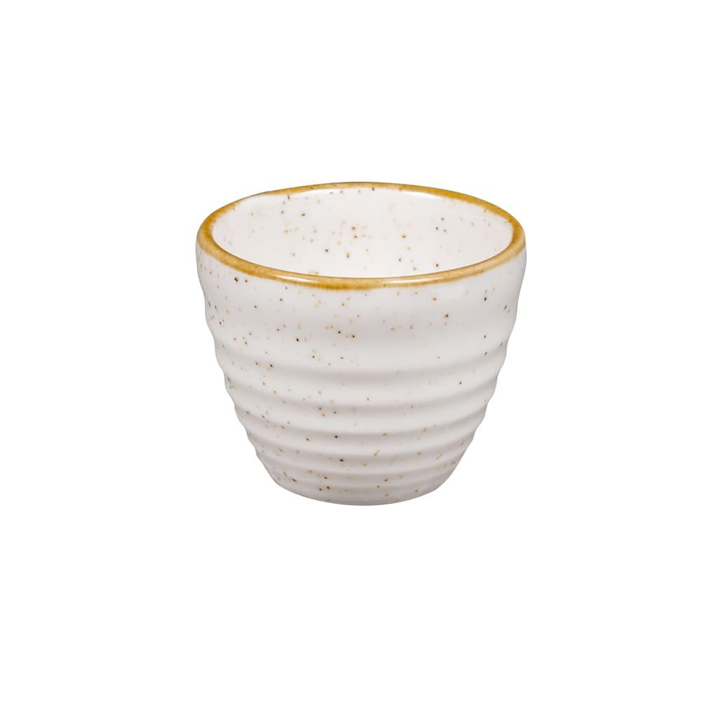 Churchill SWHSRPD21 2-oz Stonecast Ripple Dipper Pot - Ceramic, Barley White