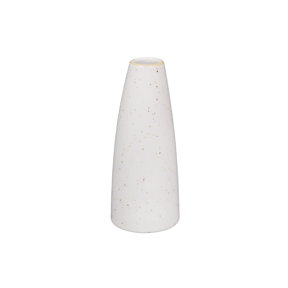 """Churchill SWHSSBV1 5"""" Stonecast Bud Vase - Ceramic, Barley White"""