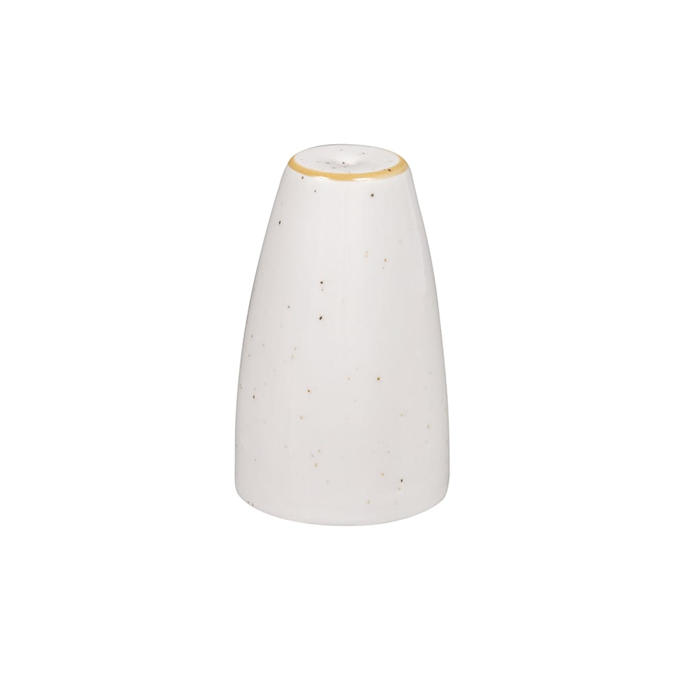 "Churchill SWHSSSA1 2.5"" Stonecast Salt Shaker - Ceramic, Barley White"